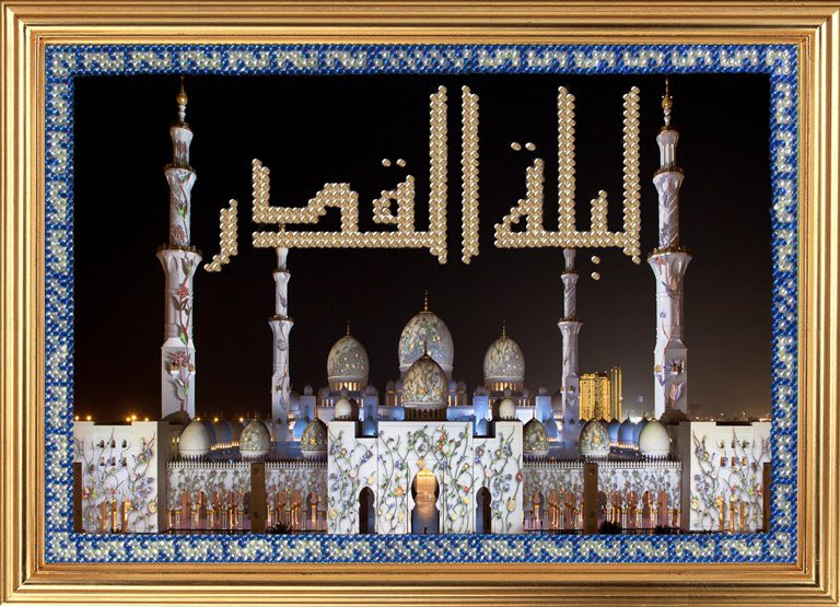 Ночь предопределения. Белая мечеть шейха Заида в Абу-Даби