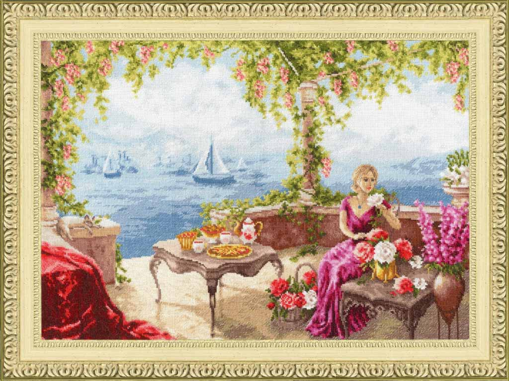 Набор для вышивания Золотое Руно ЧМ-067 Утро на берегу моря