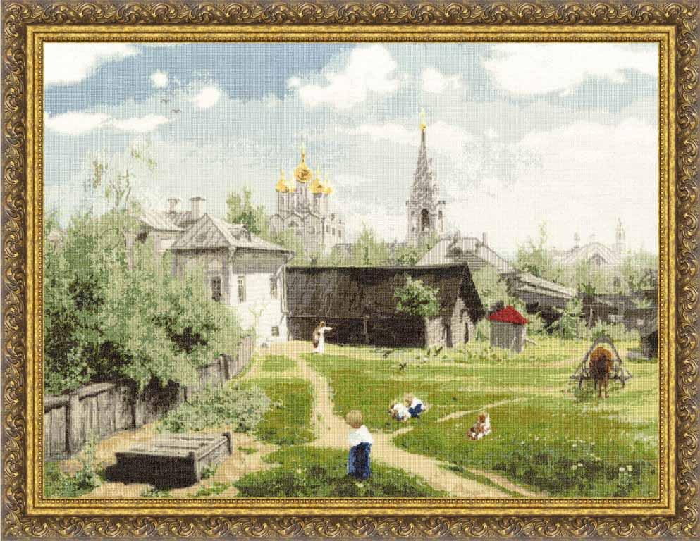 Набор для вышивания Золотое Руно ПФ-010 Московский дворик